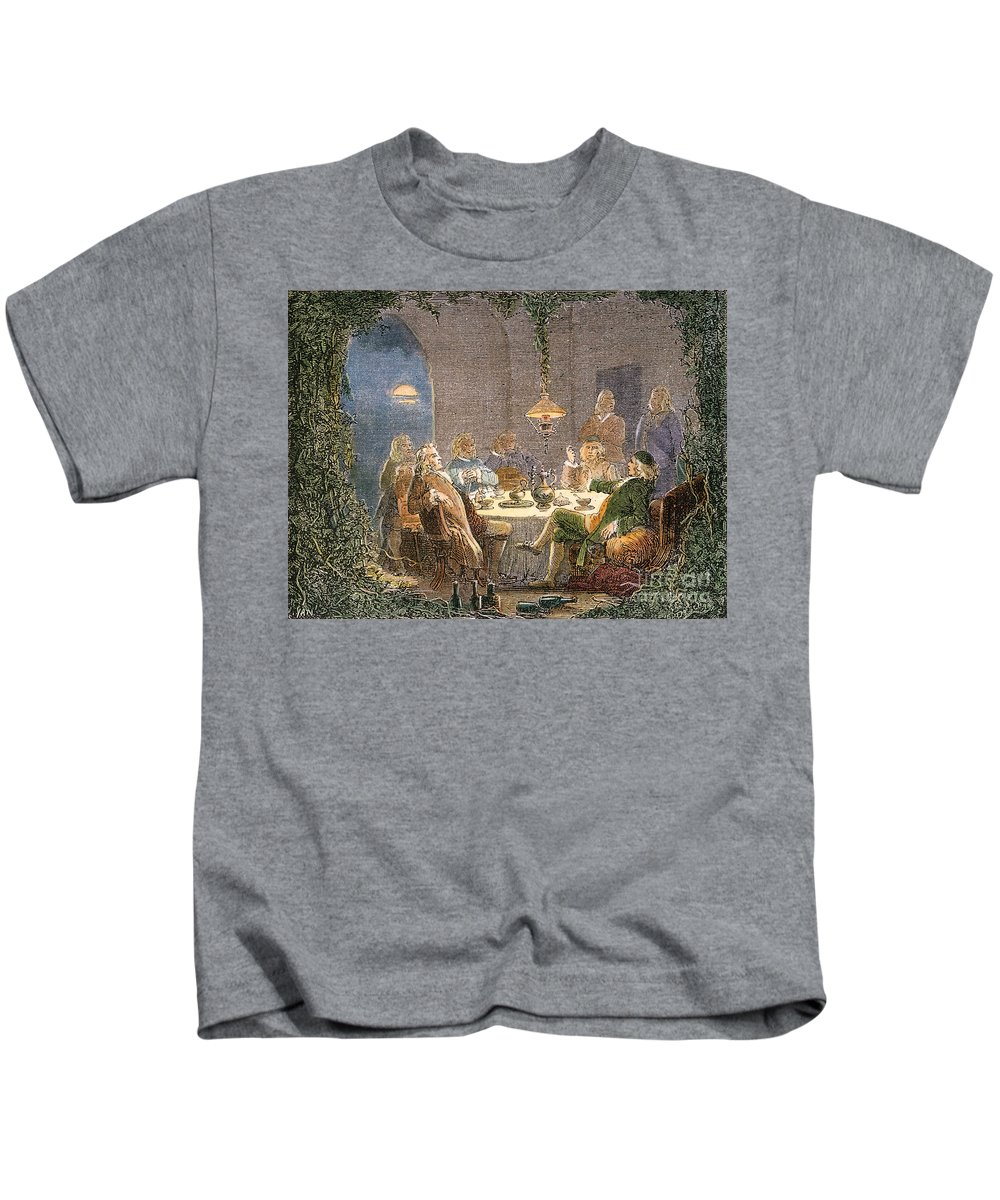 18th Century Kids T-Shirt featuring the photograph James Watt (1736-1819) by Granger