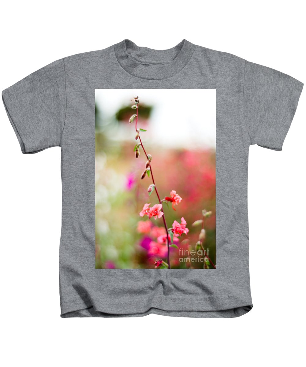 Flower Kids T-Shirt featuring the photograph A Delicate Rise by Syed Aqueel