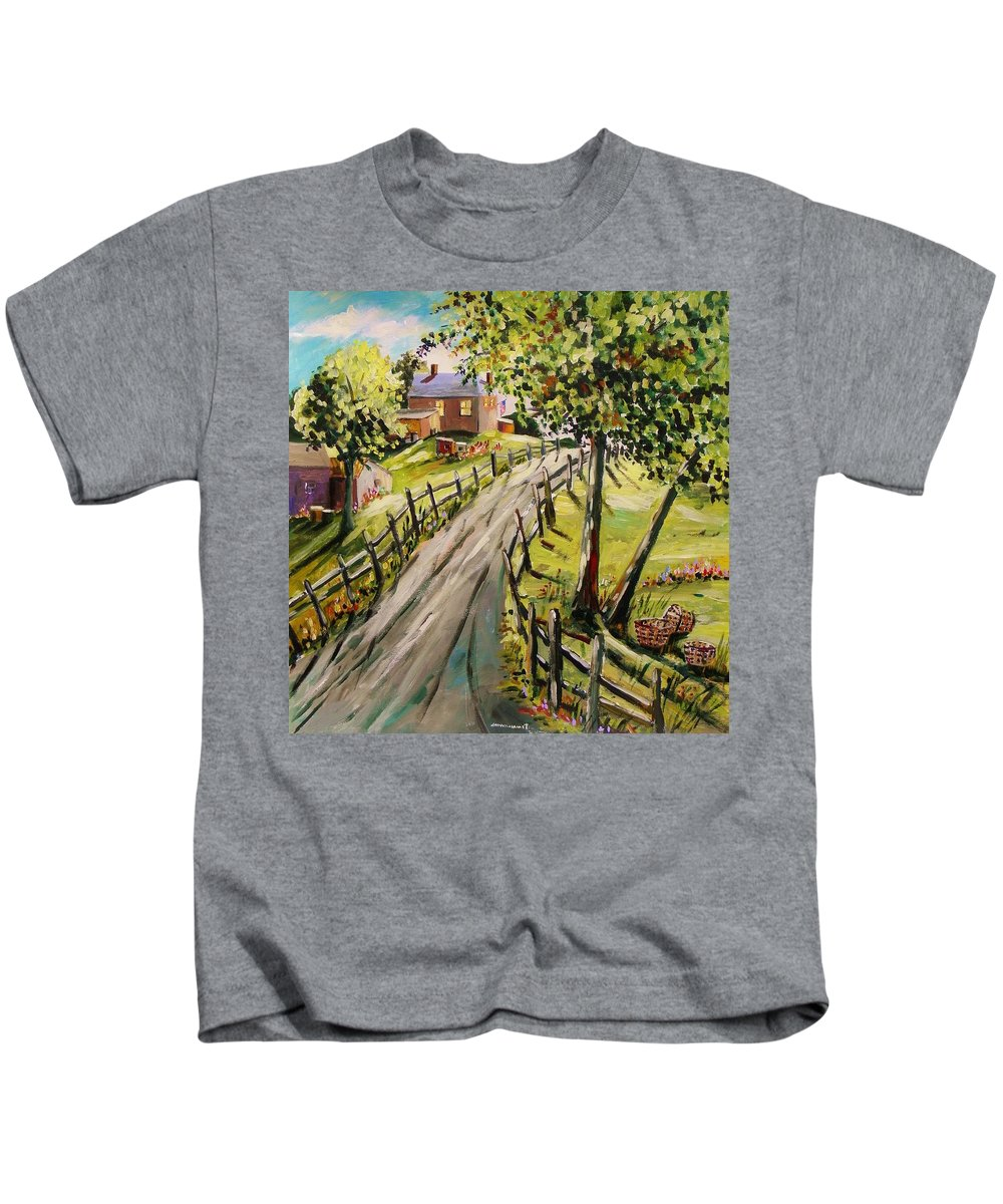 Acrylic Landscape Kids T-Shirt featuring the painting A Light Summer Breeze by John Williams
