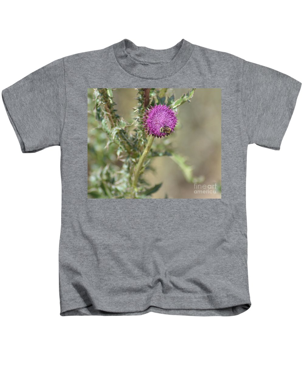 Bees Kids T-Shirt featuring the photograph A Love Affair by Donna Greene