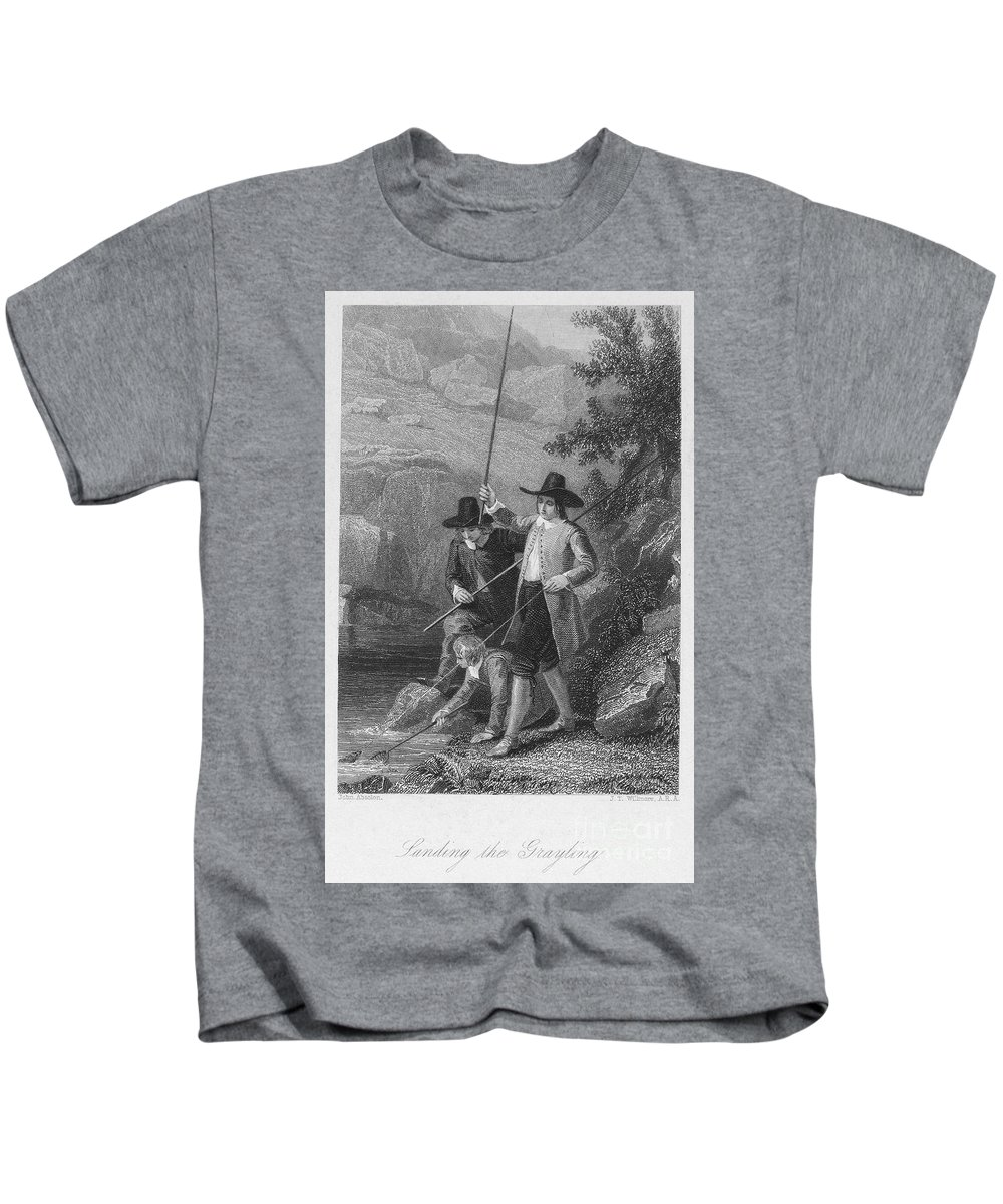 19th Century Kids T-Shirt featuring the photograph Absolon: Fishermen by Granger