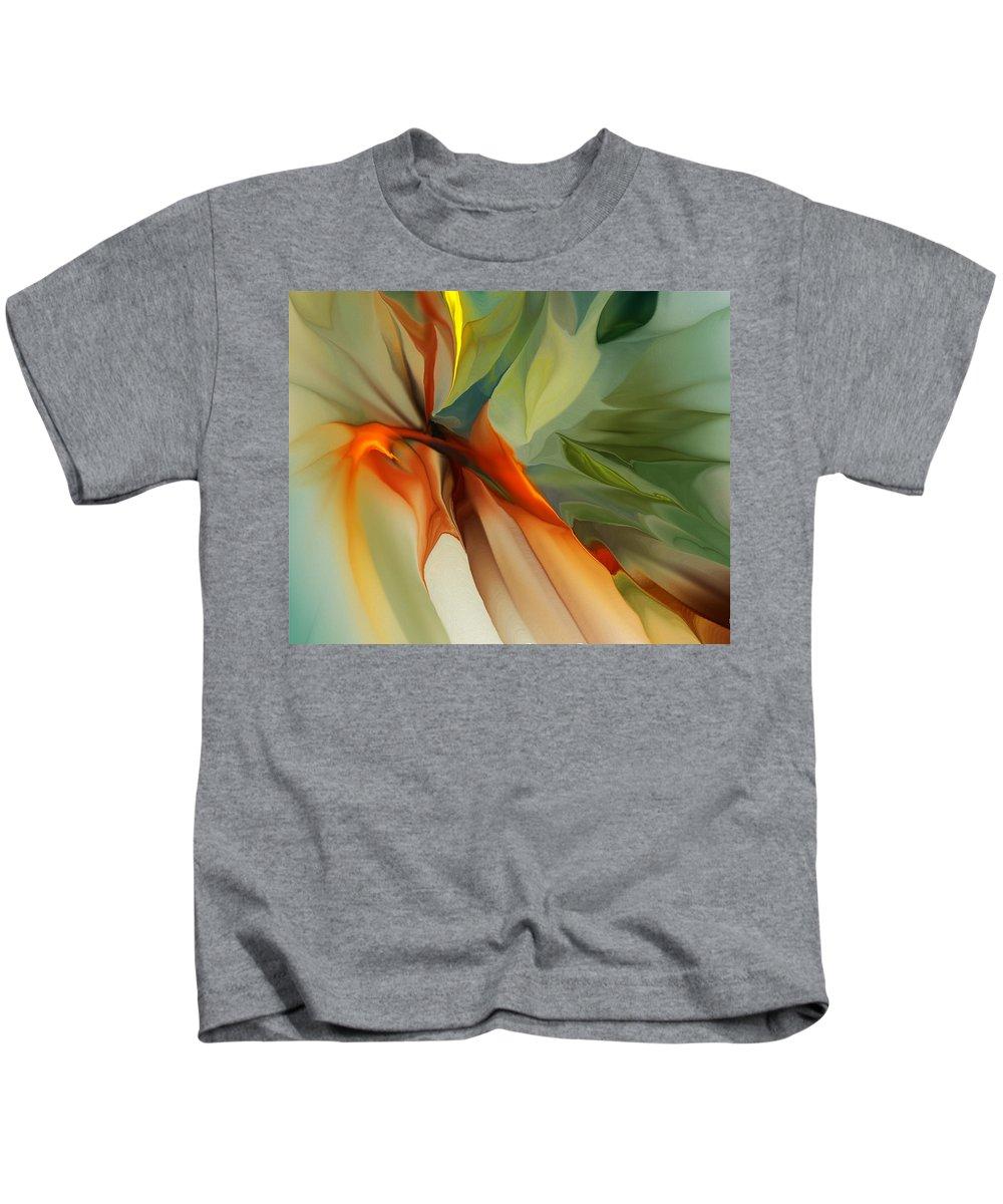 Fin Art Kids T-Shirt featuring the digital art Abstract 021412a by David Lane