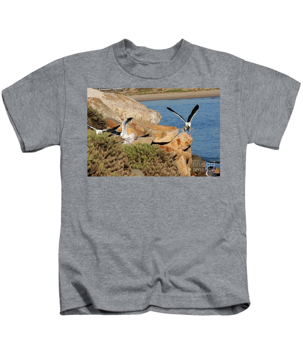 Animals Kids T-Shirt featuring the photograph Acrobats by Tap On Photo