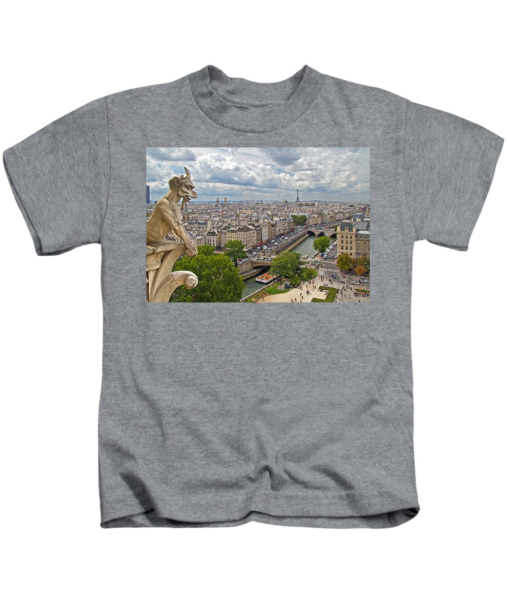 Europe Kids T-Shirt featuring the photograph Admiring The View by David Freuthal