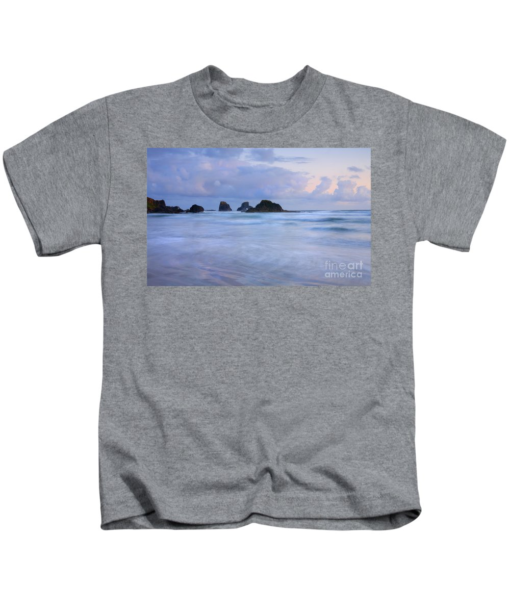 Tides Kids T-Shirt featuring the photograph Against The Tides by Mike Dawson