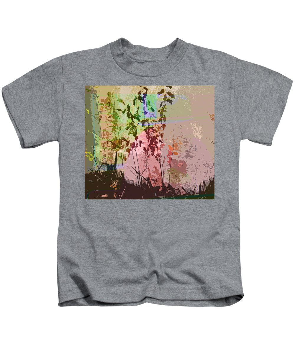 Abstract Kids T-Shirt featuring the photograph Against The Wall by Lenore Senior
