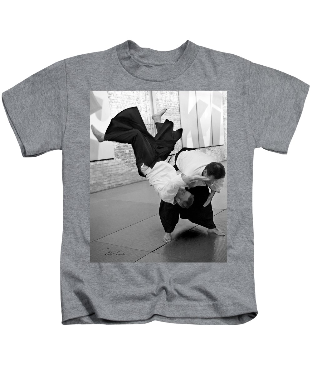 Fine Art Kids T-Shirt featuring the photograph Aikido by Frederic A Reinecke