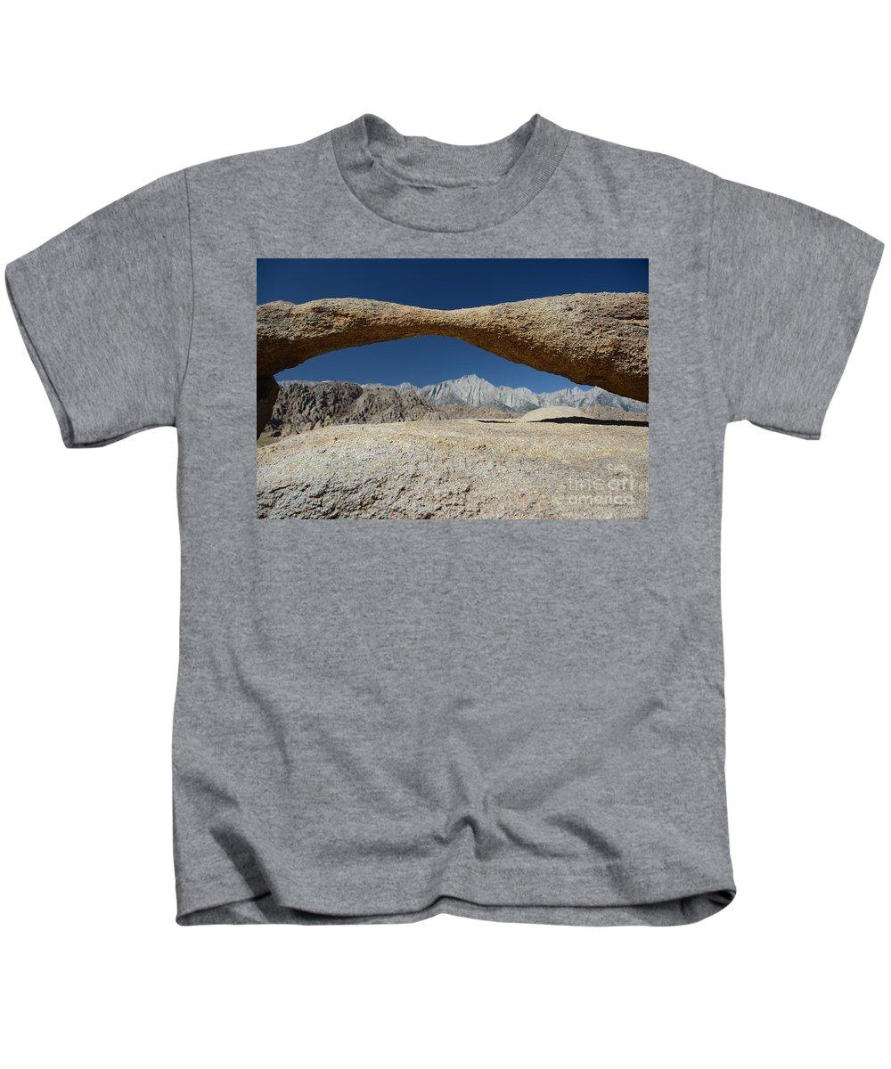 Alabama Hills Arch Kids T-Shirt featuring the photograph Alabama Hills Arch by Cassie Marie Photography