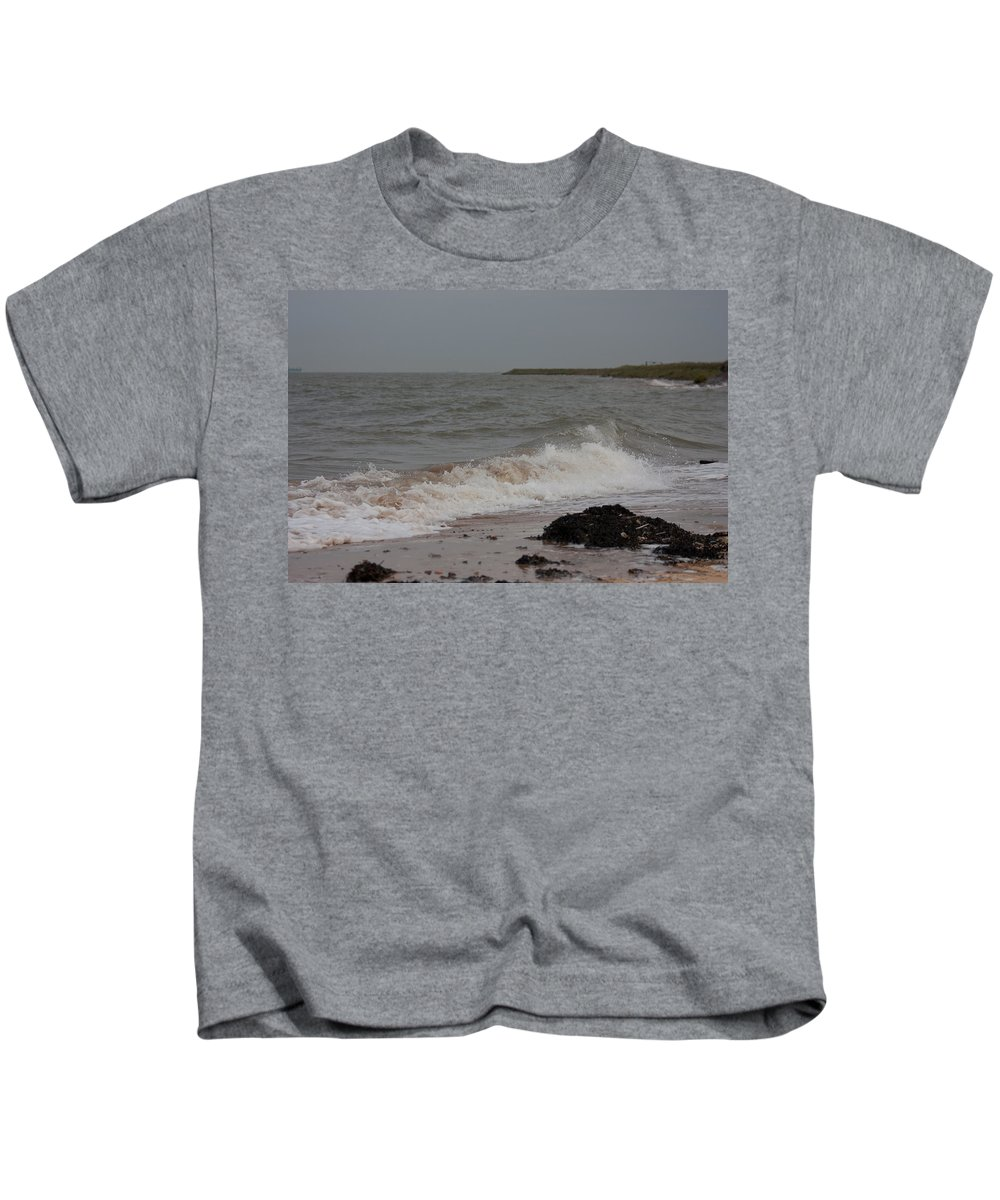 All Hallows Kids T-Shirt featuring the photograph All Hallows Wave by Dawn OConnor