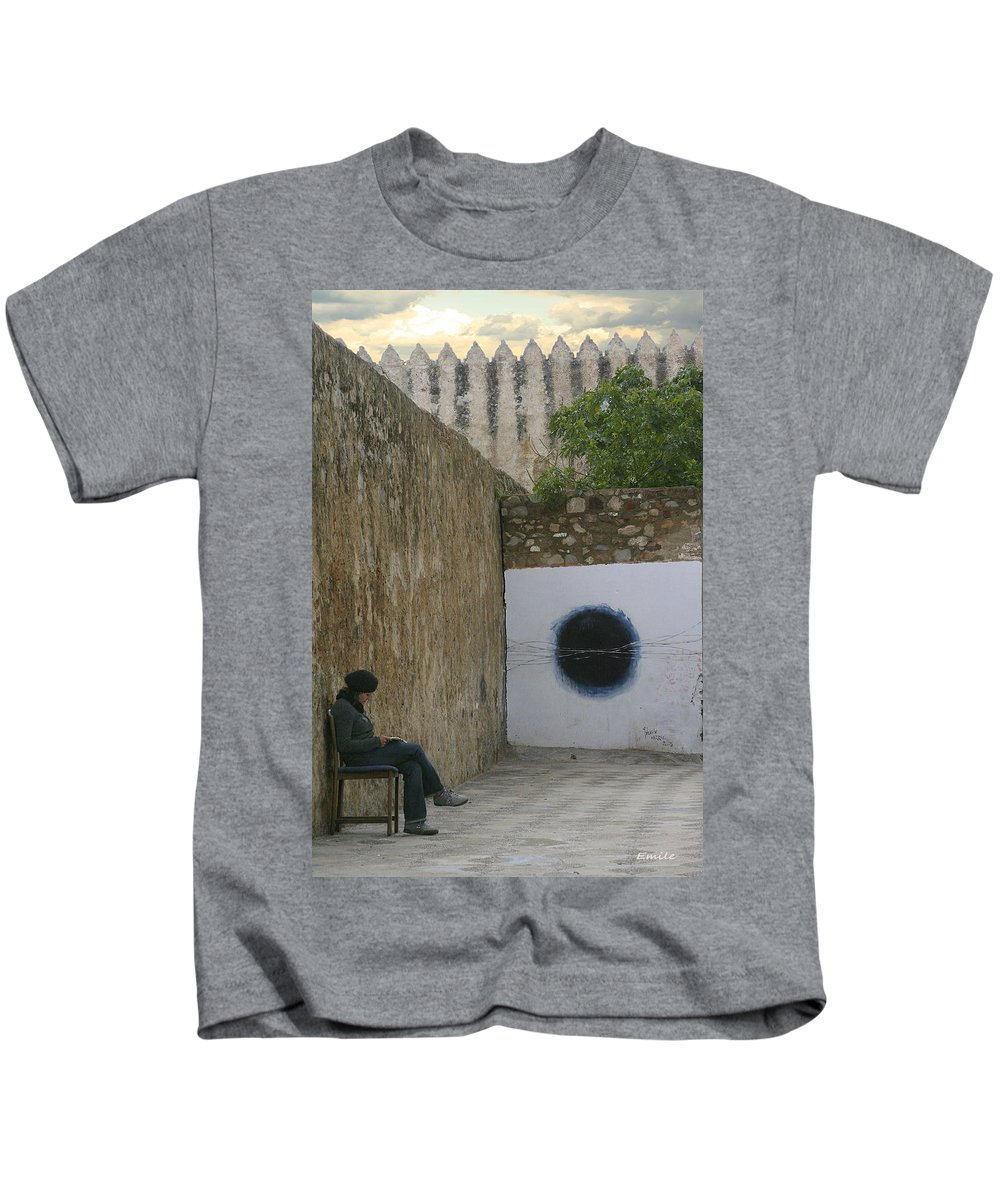 Morocco Kids T-Shirt featuring the photograph Alone by Emile Ibrahim