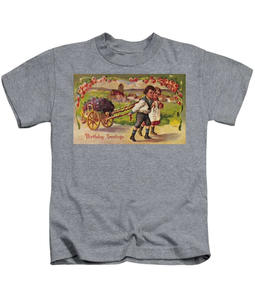19th Century Kids T-Shirt featuring the photograph American Birthday Card by Granger
