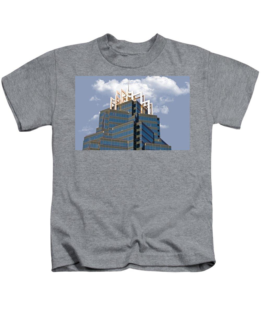 Architecture Kids T-Shirt featuring the photograph Architectural Details by Susan Leggett