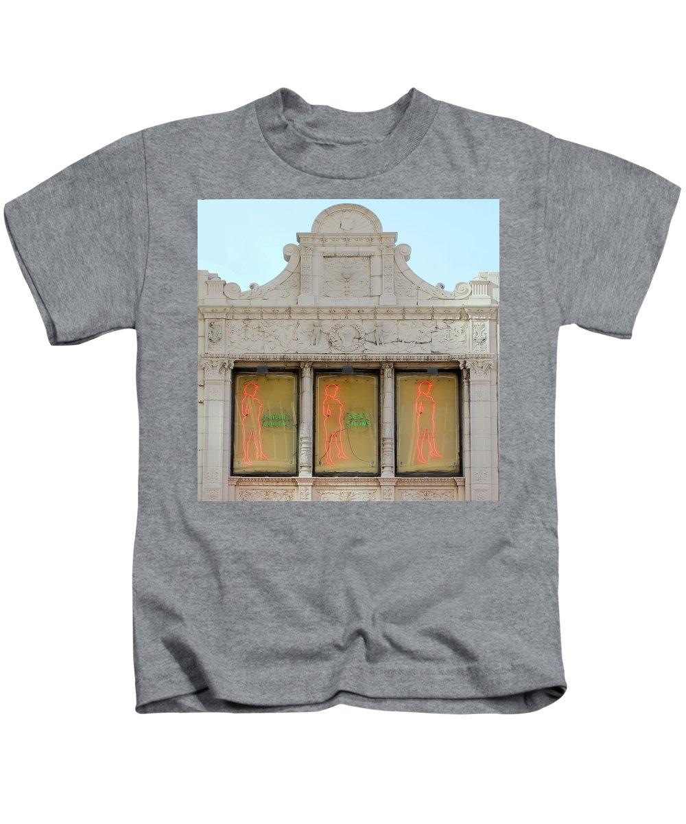 Sex Shop Kids T-Shirt featuring the photograph Art Nouveau Sex Shop by Andrew Fare