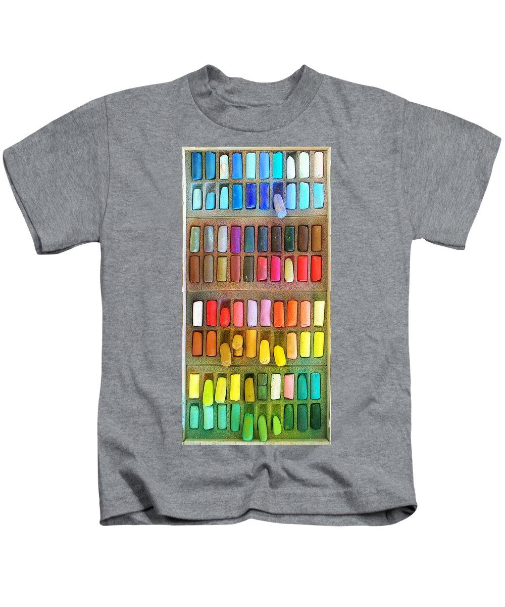 Pastel Kids T-Shirt featuring the photograph Artists Rainbow by Francesa Miller