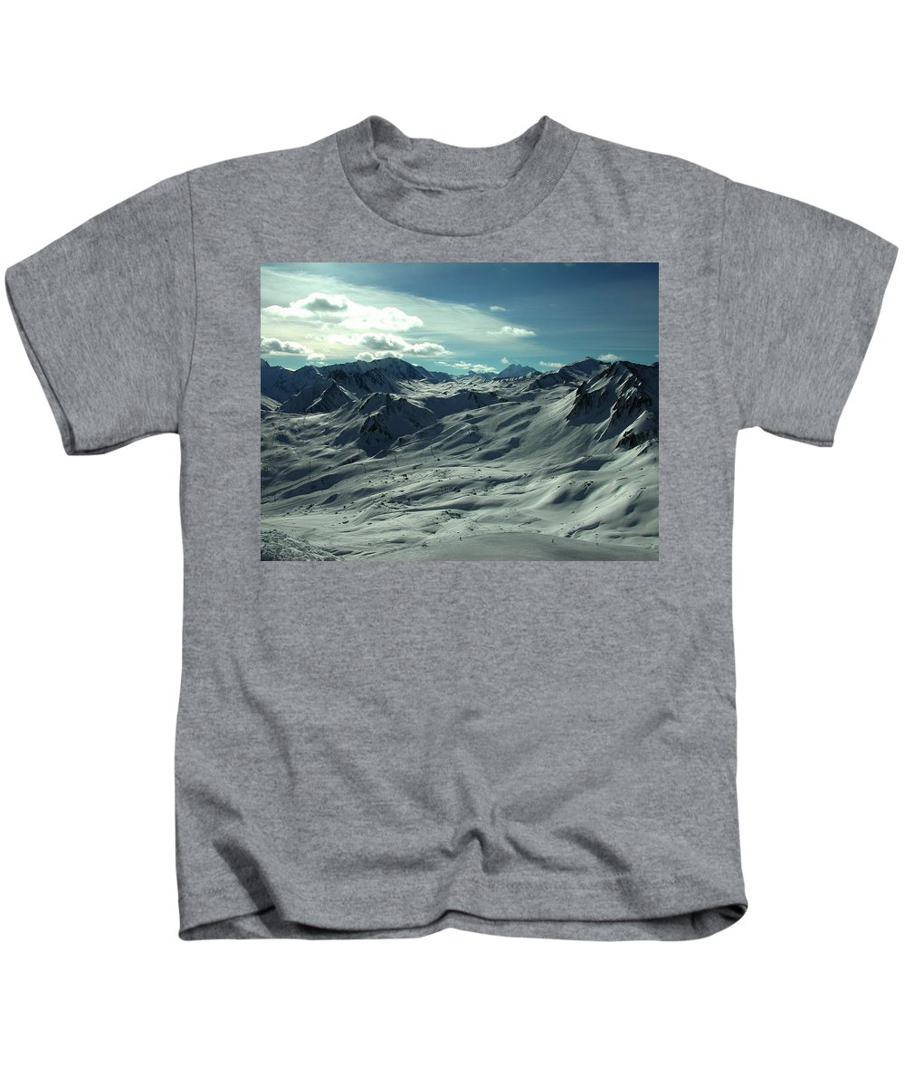 Colette Kids T-Shirt featuring the photograph Austria Snow Mountain by Colette V Hera Guggenheim