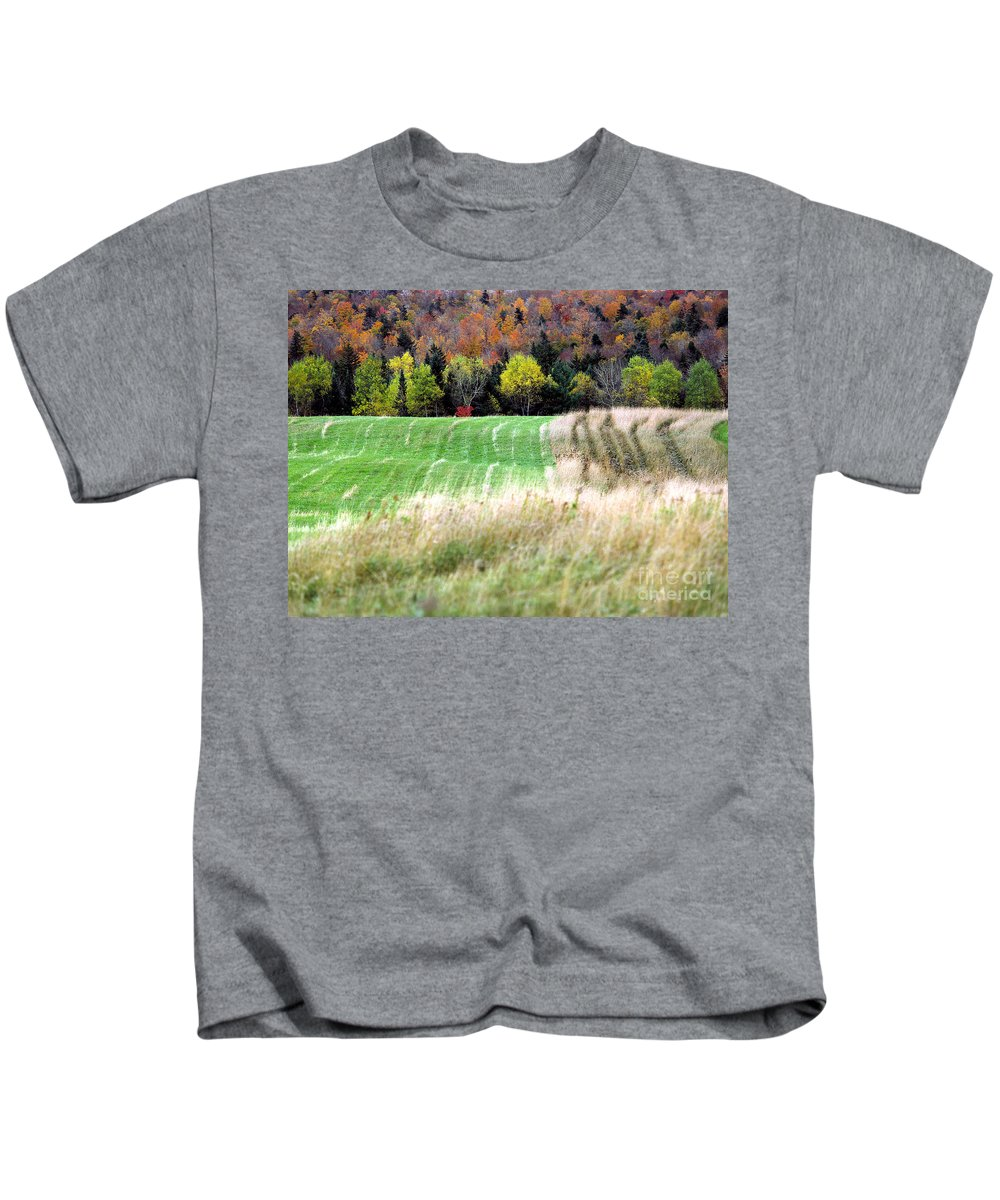 Autumn Kids T-Shirt featuring the photograph Autmnfield by Mike Nellums