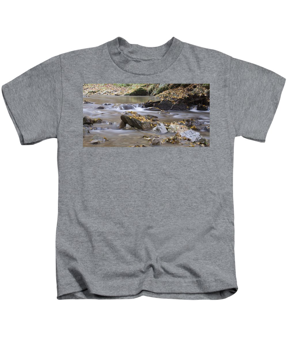 Autumn Kids T-Shirt featuring the photograph Autumn Flow by Ian Middleton