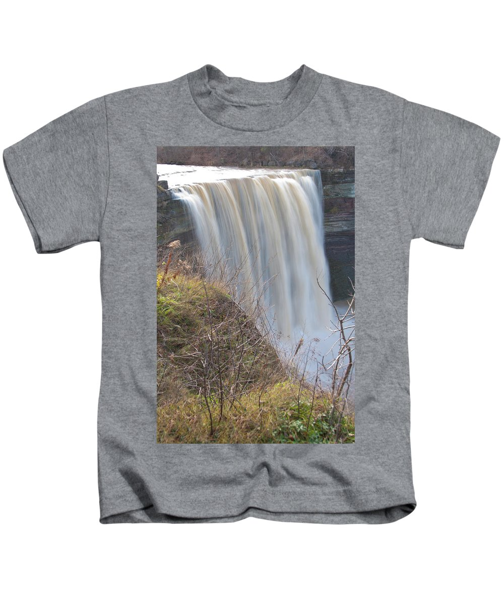 Balls Falls Kids T-Shirt featuring the photograph Balls Falls 9931c by Guy Whiteley