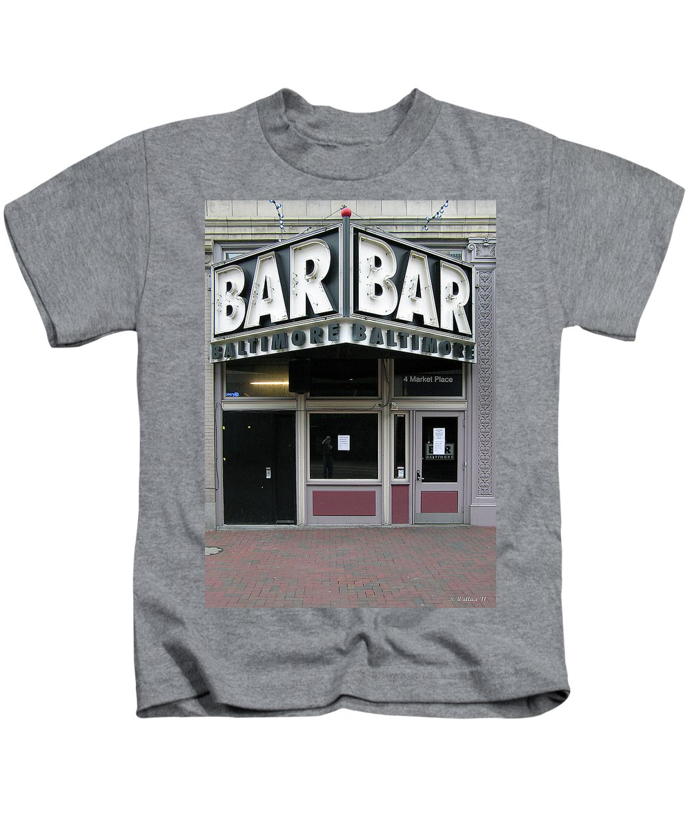 Brian Wallace Kids T-Shirt featuring the photograph Baltimore Bar by Brian Wallace