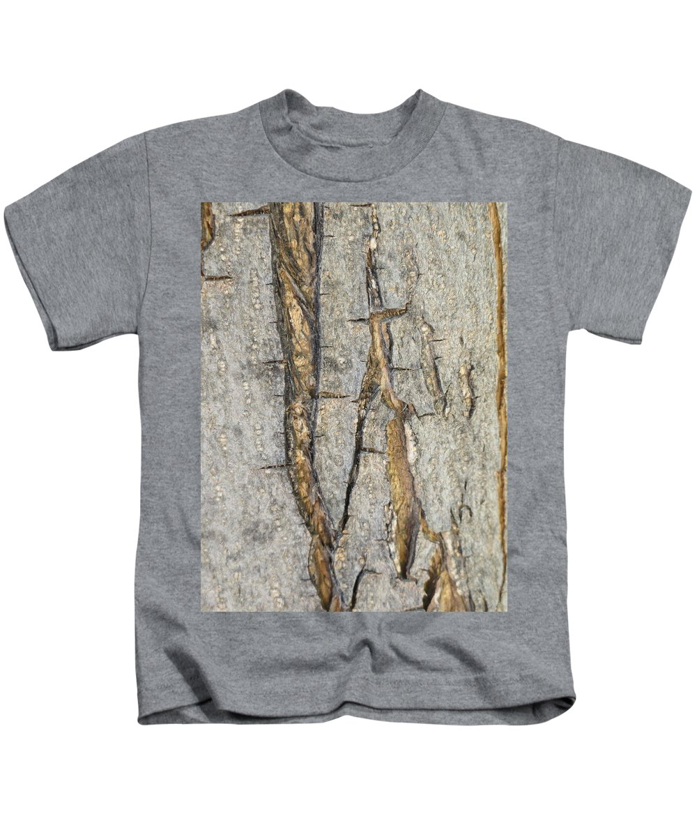 Bark Kids T-Shirt featuring the photograph Barking Up Stream by Shannon Grissom