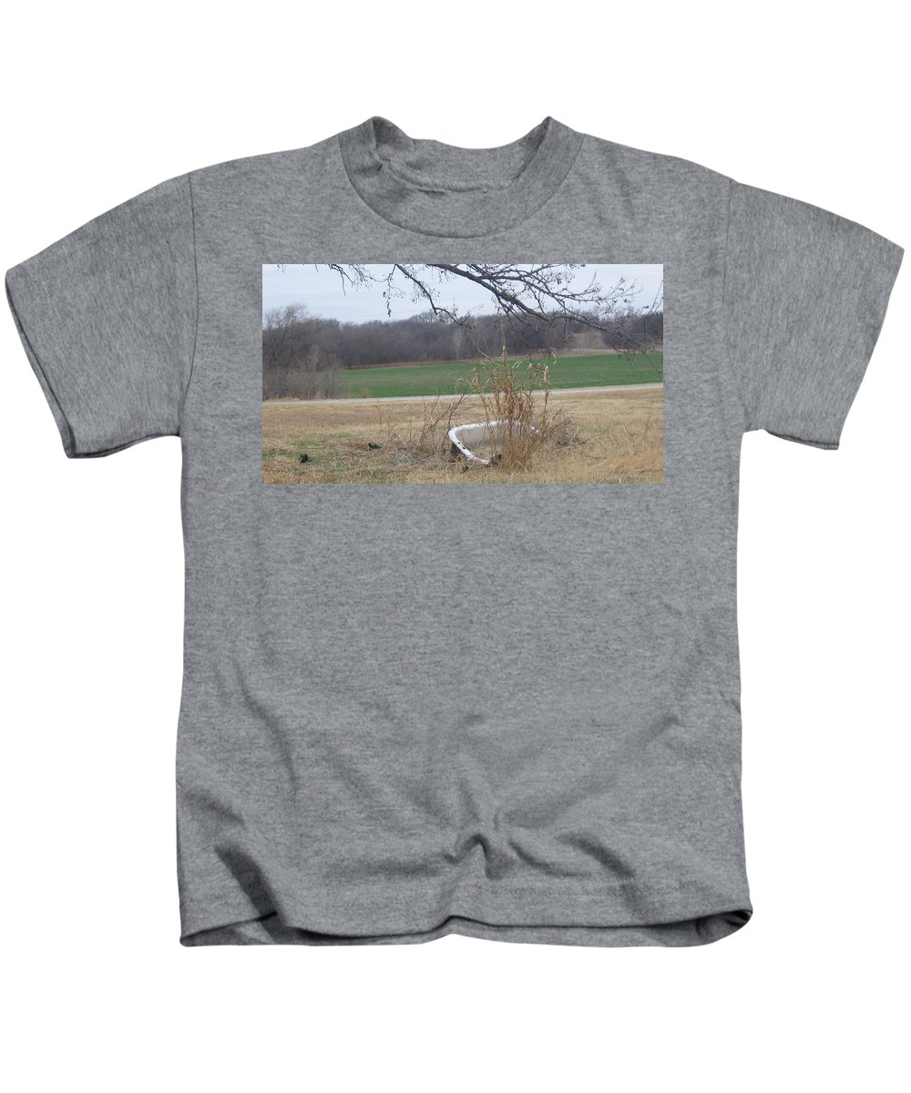 Kids T-Shirt featuring the photograph Bath Time by Amy Hosp