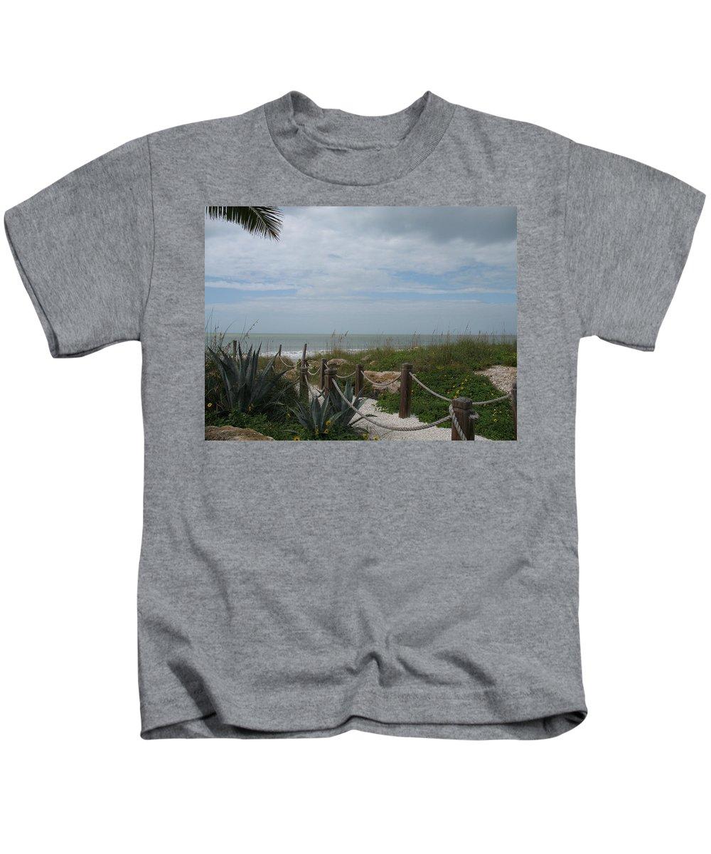 Beach Access Kids T-Shirt featuring the photograph Beach Access by Christiane Schulze Art And Photography