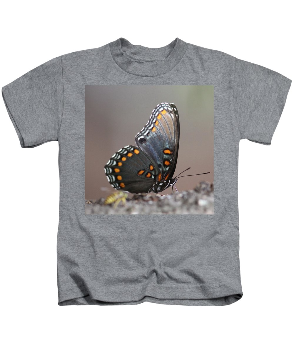 Butterfly Kids T-Shirt featuring the photograph Bee And Me by Travis Truelove
