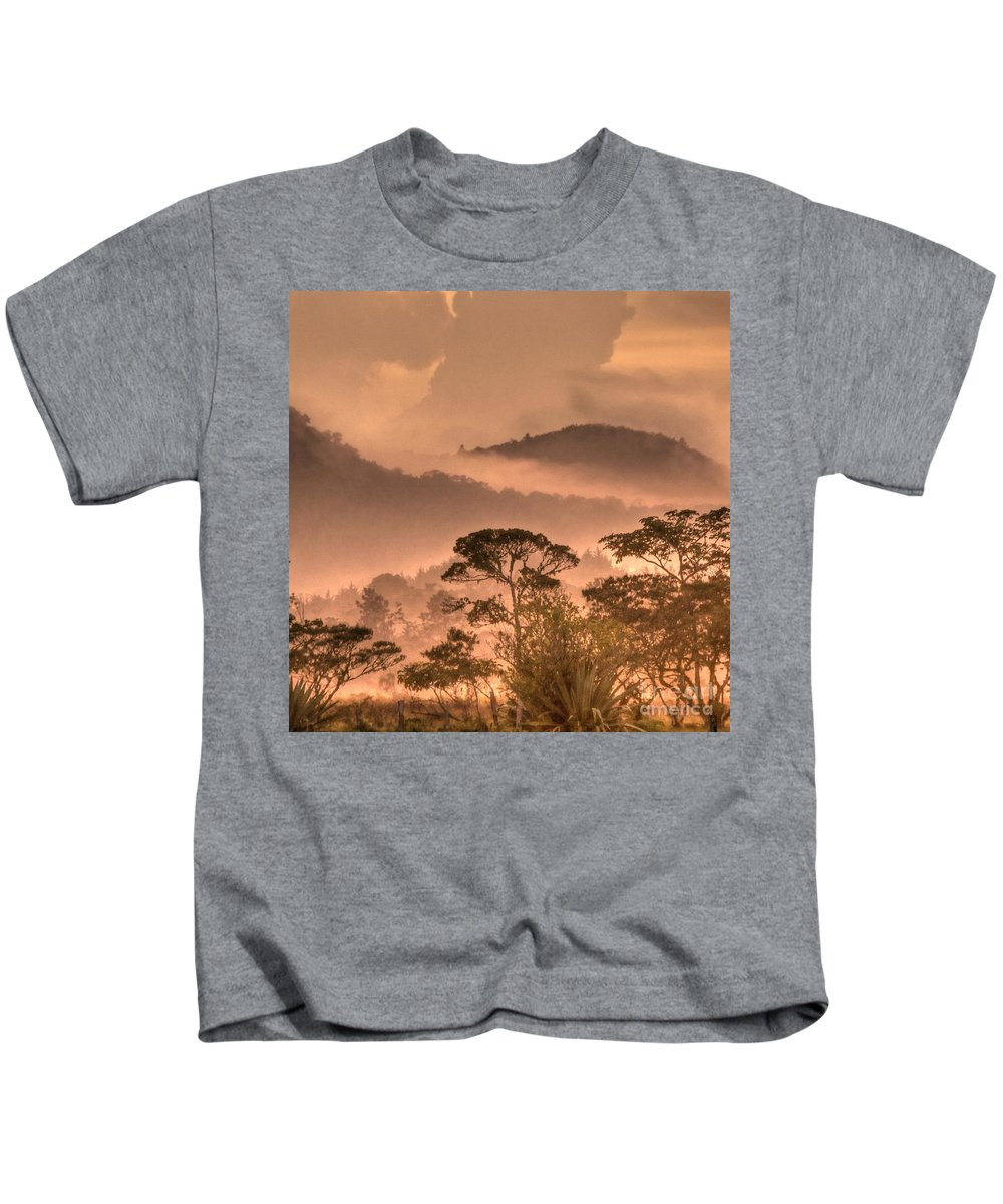 Hdr Kids T-Shirt featuring the photograph Before Sunset by Heiko Koehrer-Wagner
