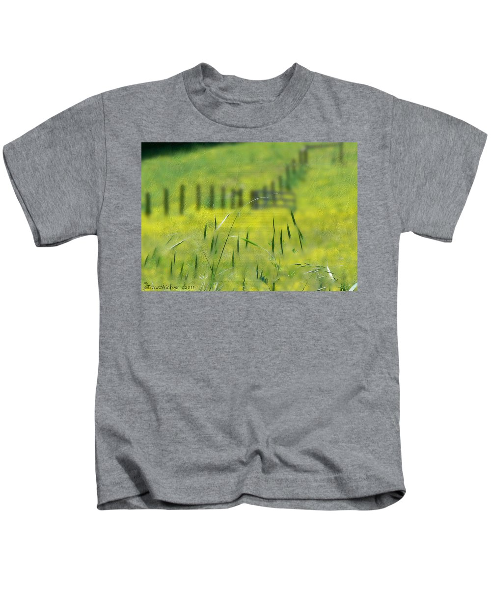 Tn Kids T-Shirt featuring the photograph Beyond The Weeds by Ericamaxine Price