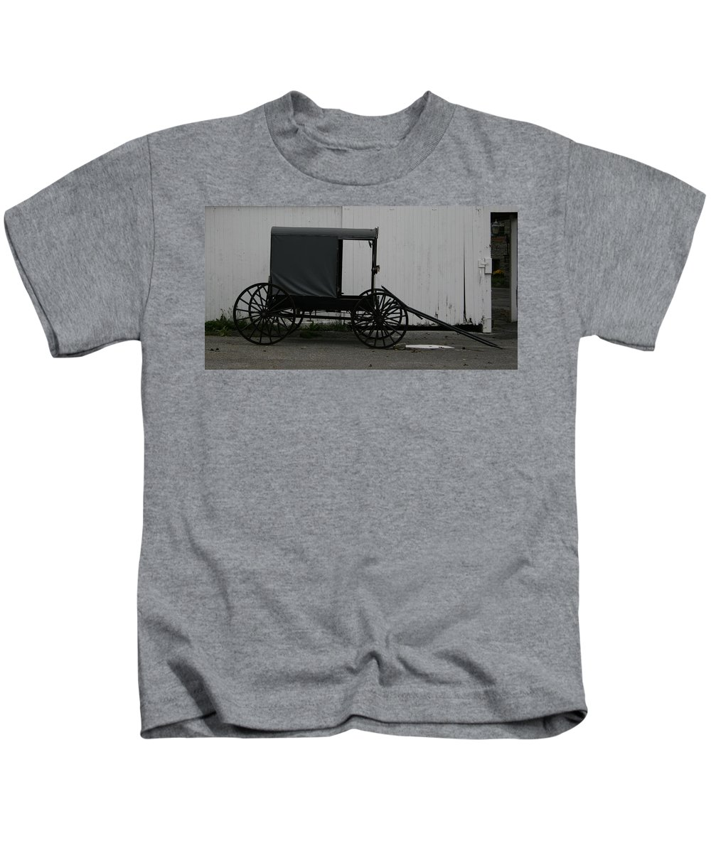 Cart Kids T-Shirt featuring the photograph Biroccino by Tila Gun
