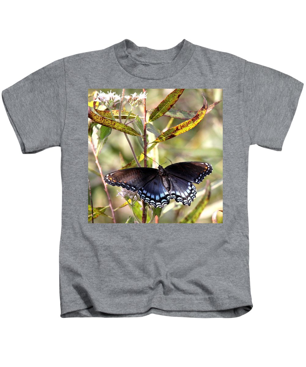 Swallowtail Butterfly Kids T-Shirt featuring the photograph Black Beauty In The Bush by Travis Truelove