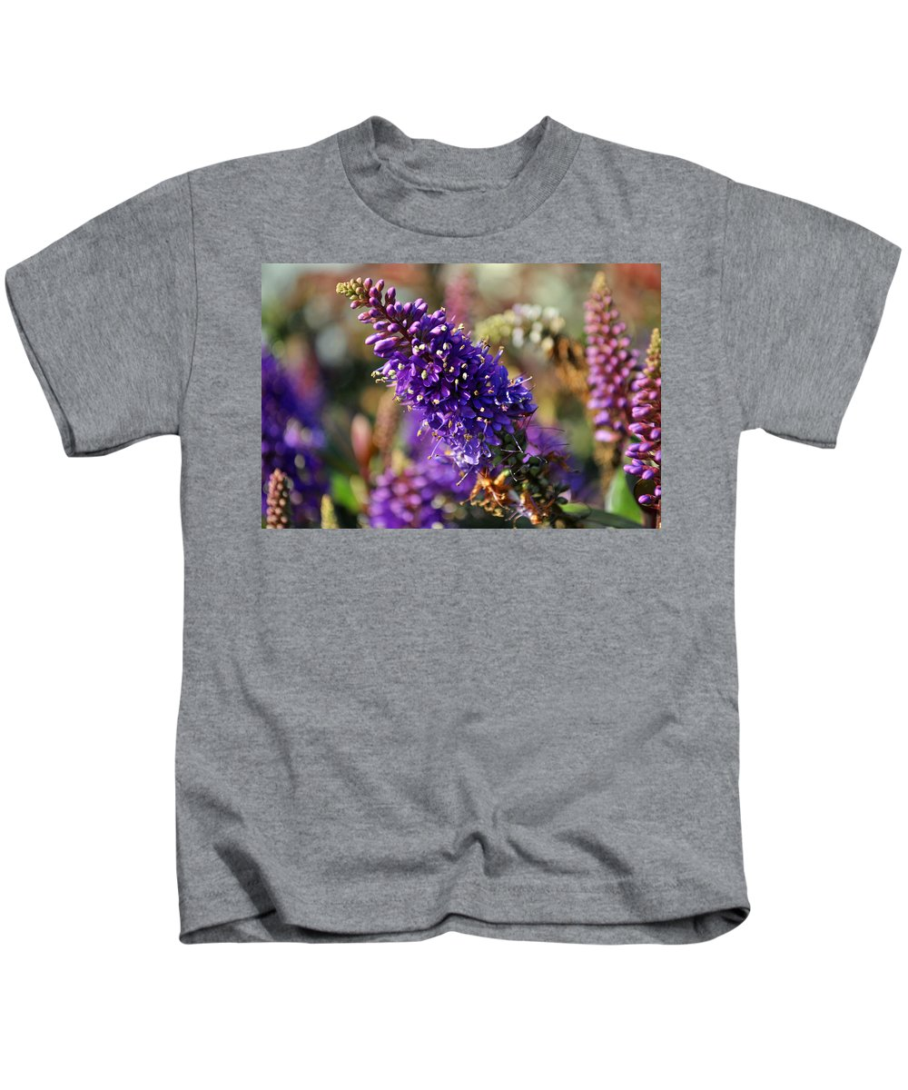 Spring Kids T-Shirt featuring the photograph Blue Brush Bloom by Tikvah's Hope