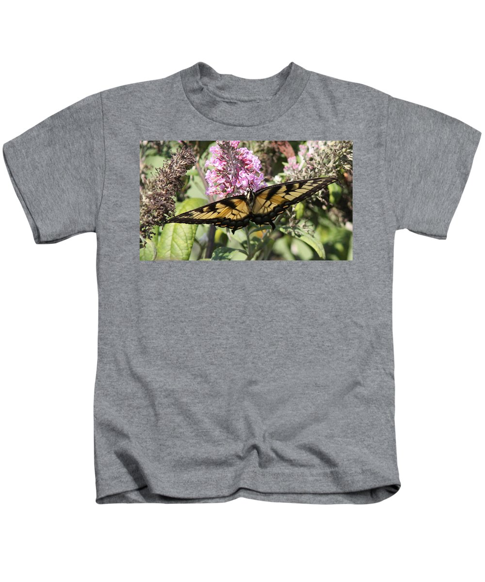 Swallowtail Butterfly Kids T-Shirt featuring the photograph Bottoms Up by Travis Truelove