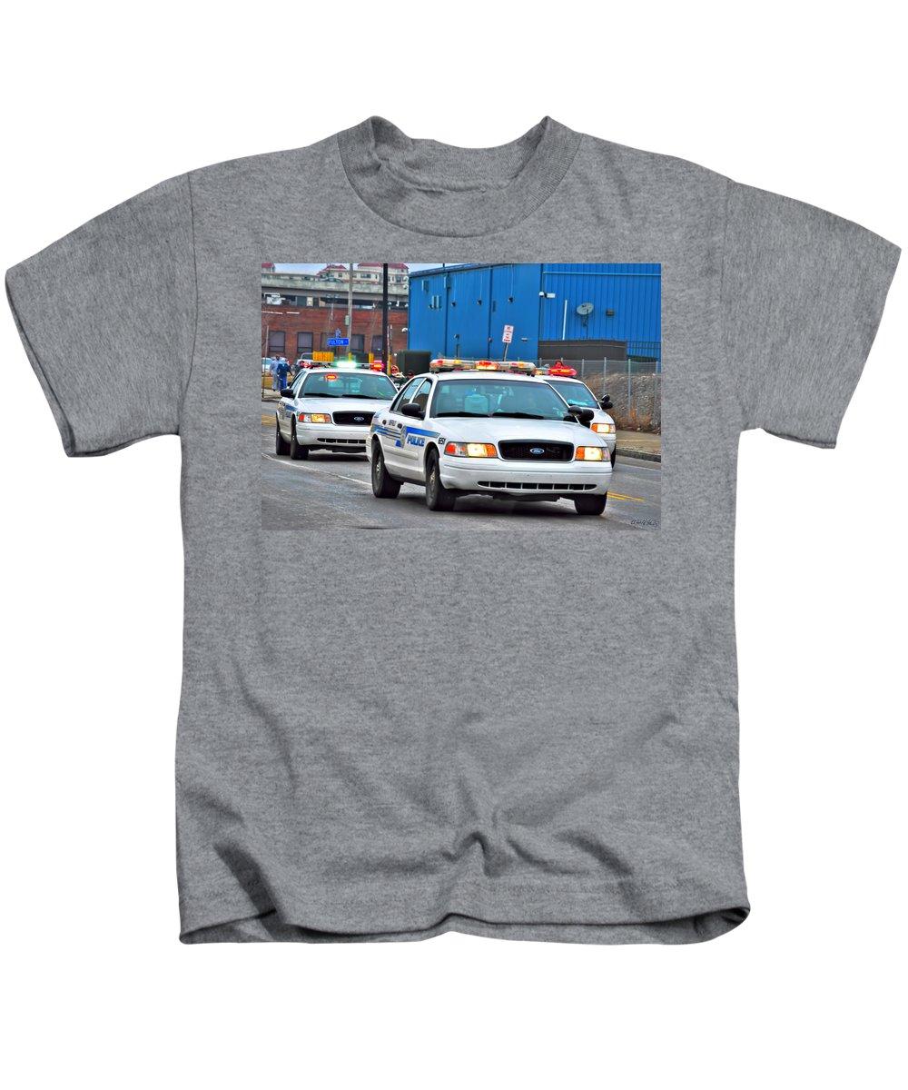 Kids T-Shirt featuring the photograph BPD by Michael Frank Jr
