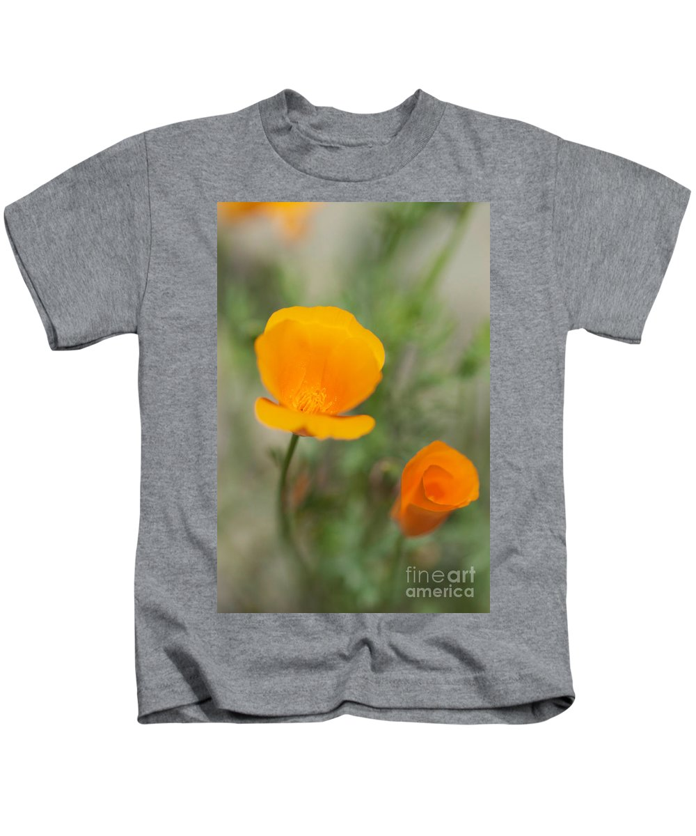 California Poppy Photographs Kids T-Shirt featuring the photograph California Poppy Flowers by Brooke Roby