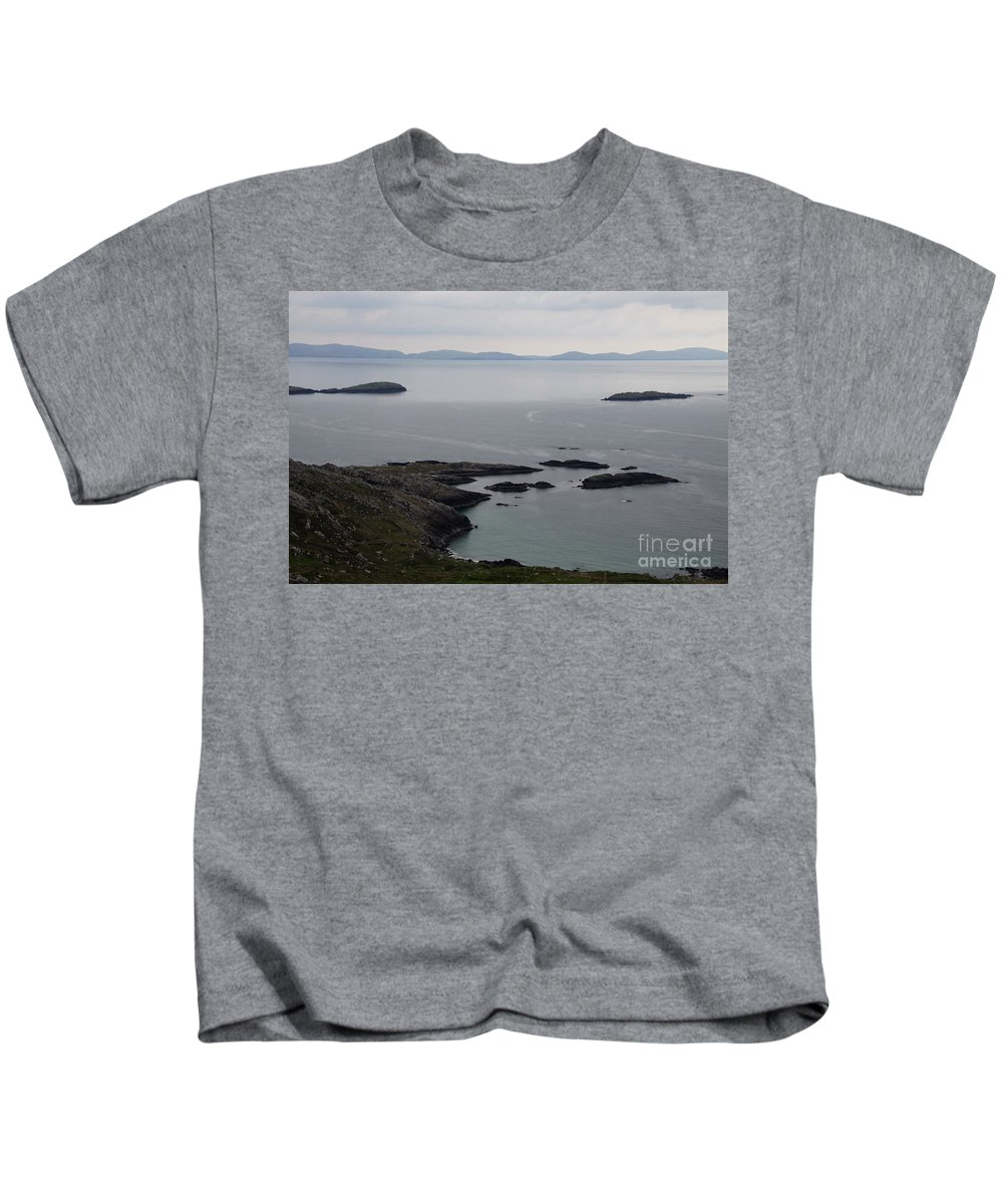 Rock Kids T-Shirt featuring the photograph Calm Sea by Christiane Schulze Art And Photography