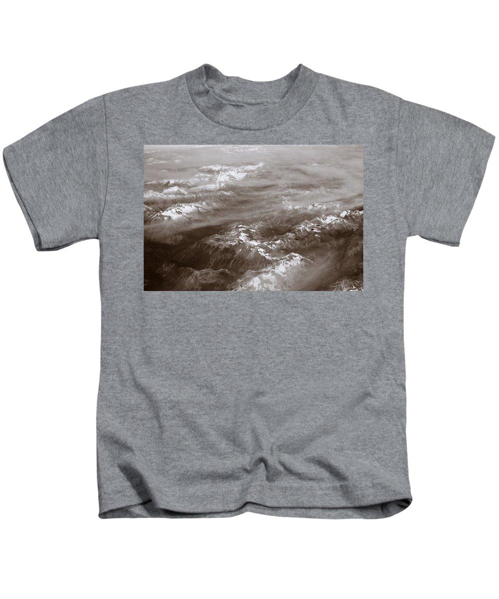 Canadian Rockies Kids T-Shirt featuring the digital art Canadian Rockies by Diane Dugas