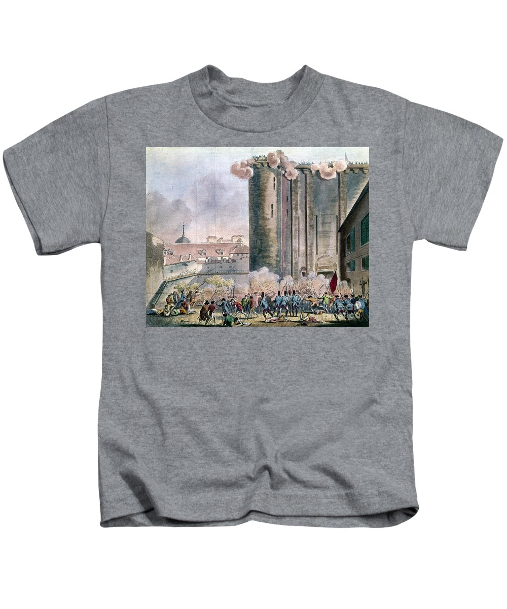 1789 Kids T-Shirt featuring the photograph Capture Of The Bastille by Granger