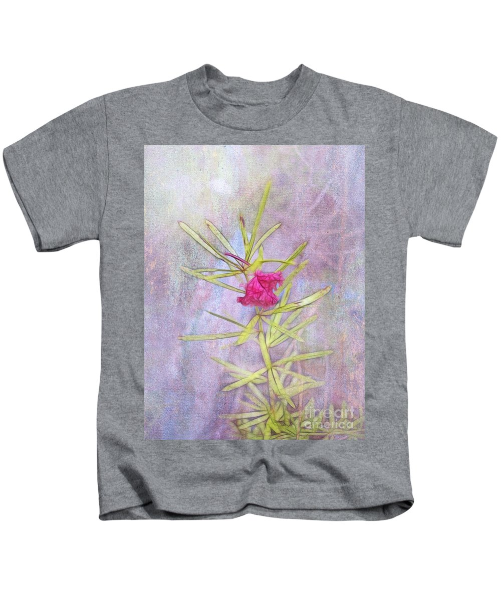 Captured Kids T-Shirt featuring the photograph Captured Blossom by Judi Bagwell