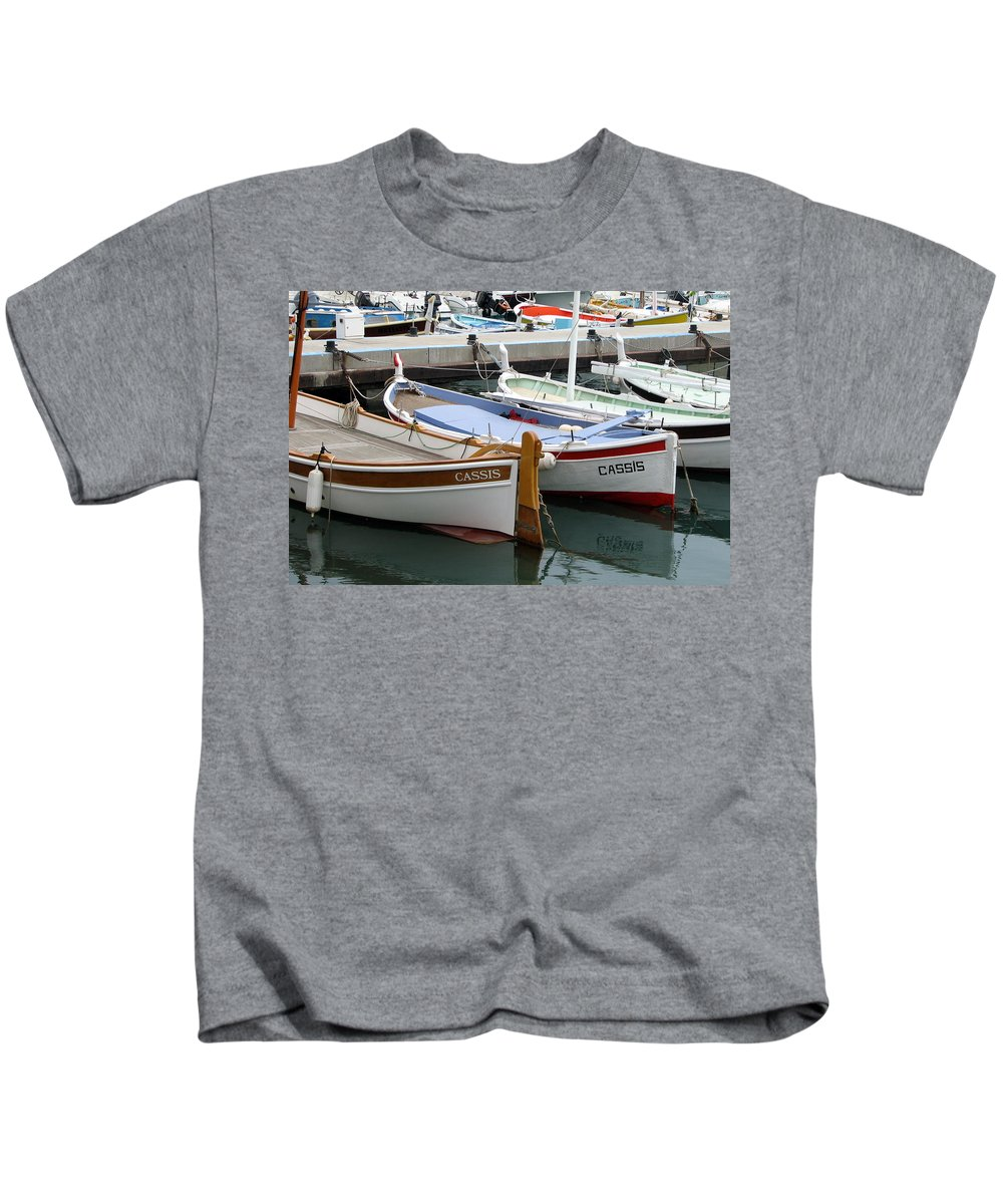Cassis Kids T-Shirt featuring the photograph Cassis Harbor by Carla Parris