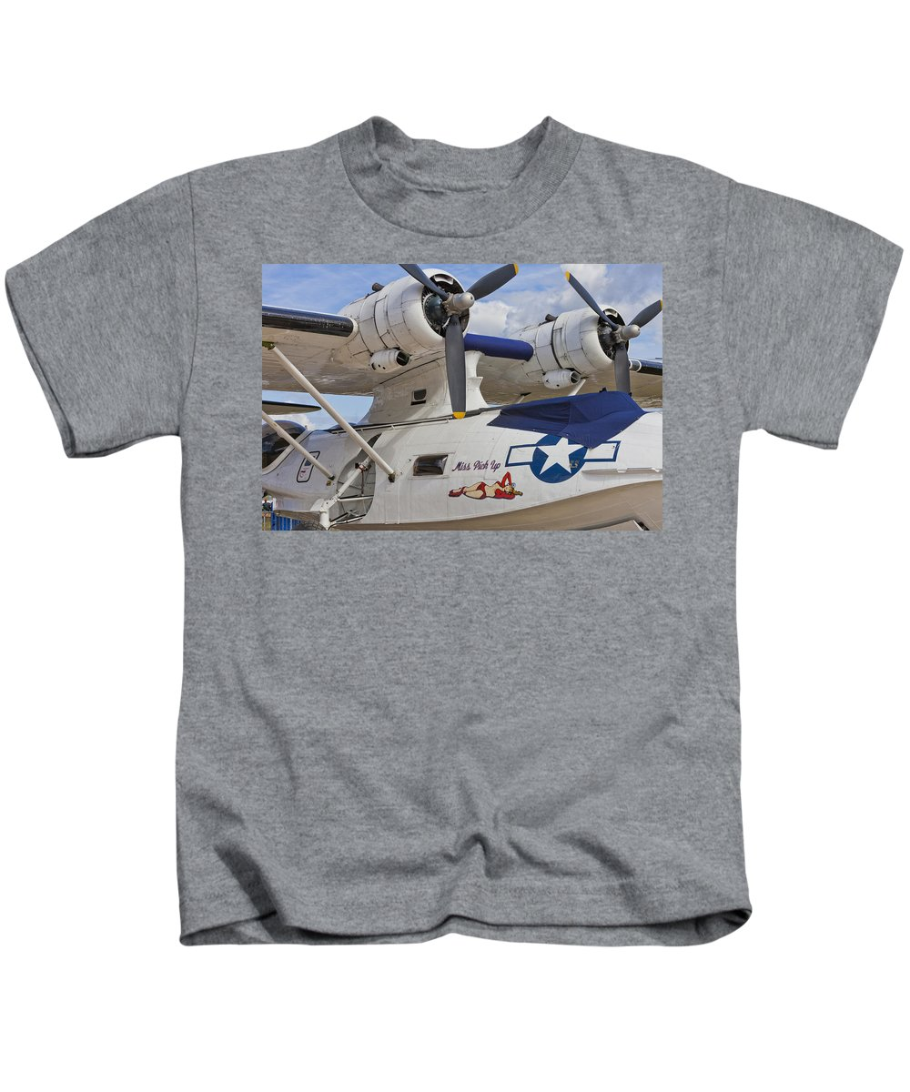 Catalina Flying Boat Kids T-Shirt featuring the photograph Catalina by Maj Seda