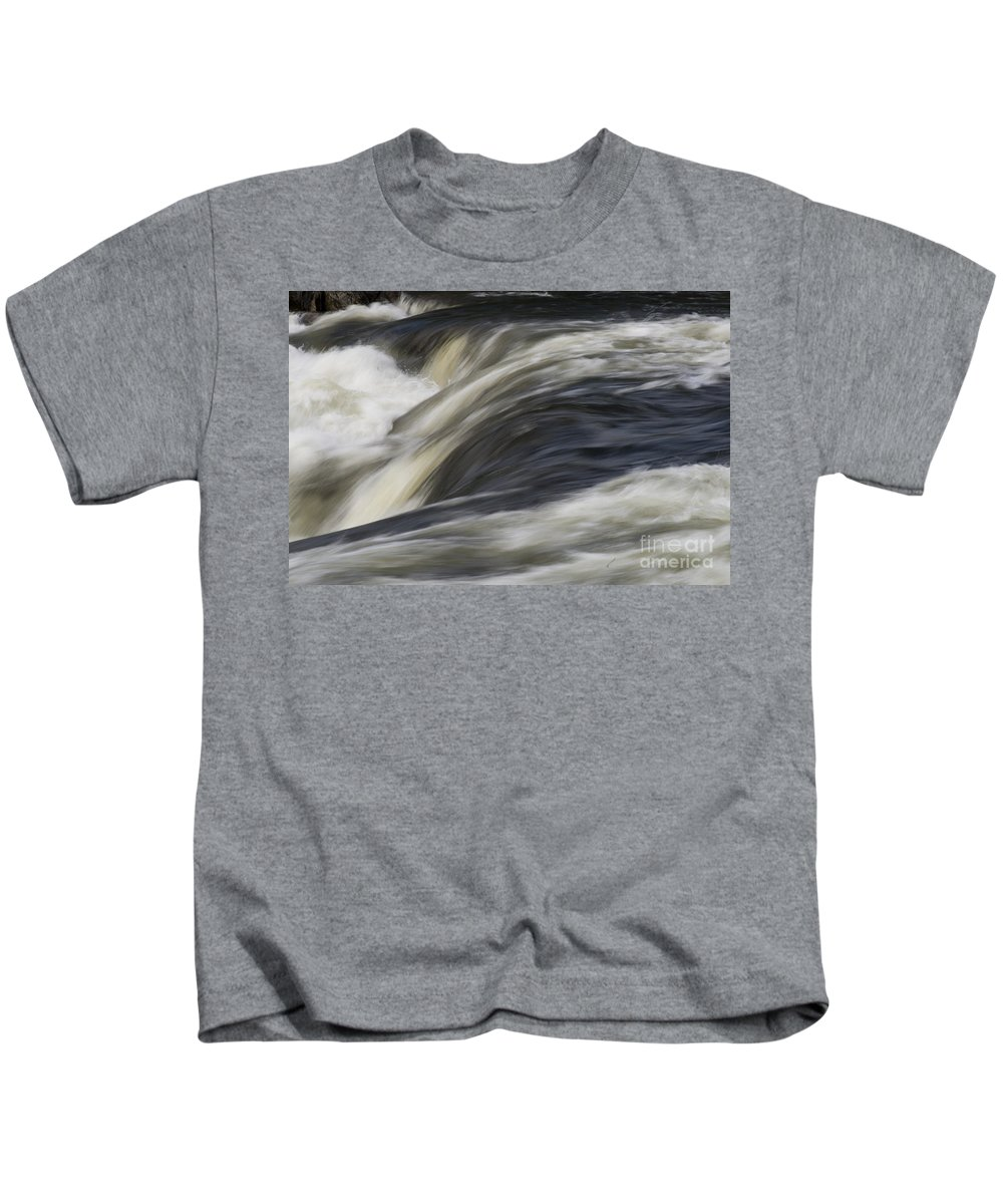 River Kids T-Shirt featuring the photograph Cataract by Heiko Koehrer-Wagner