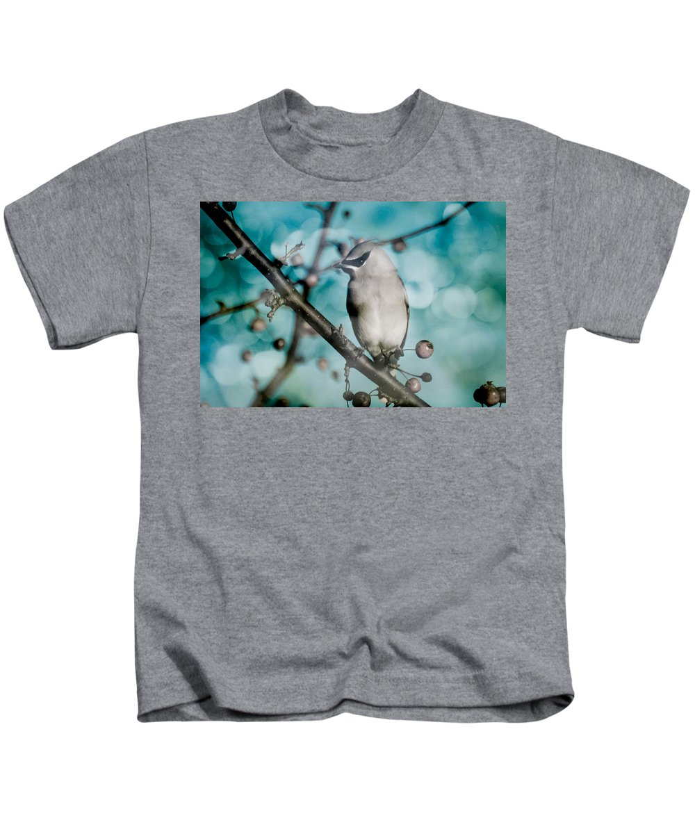Bird Kids T-Shirt featuring the photograph Catch The Bandit by Trish Tritz