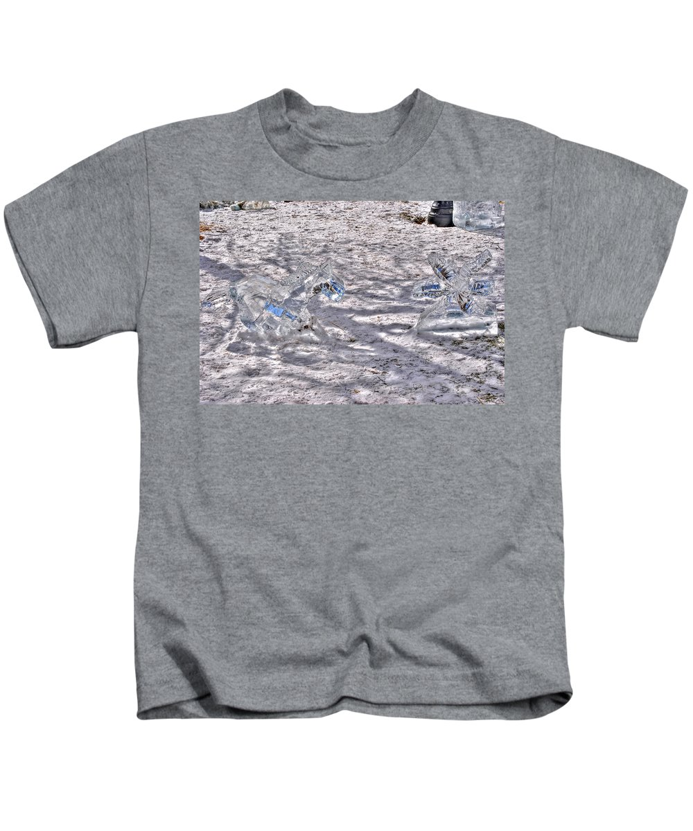 Kids T-Shirt featuring the photograph Chasing Snowflakes by Michael Frank Jr