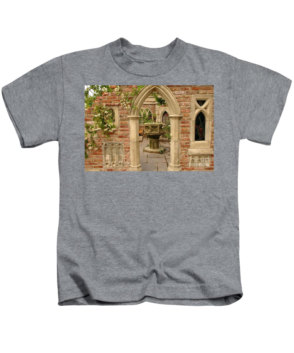 Chelsea Kids T-Shirt featuring the photograph Chelsea Stone Archway by Mike Nellums