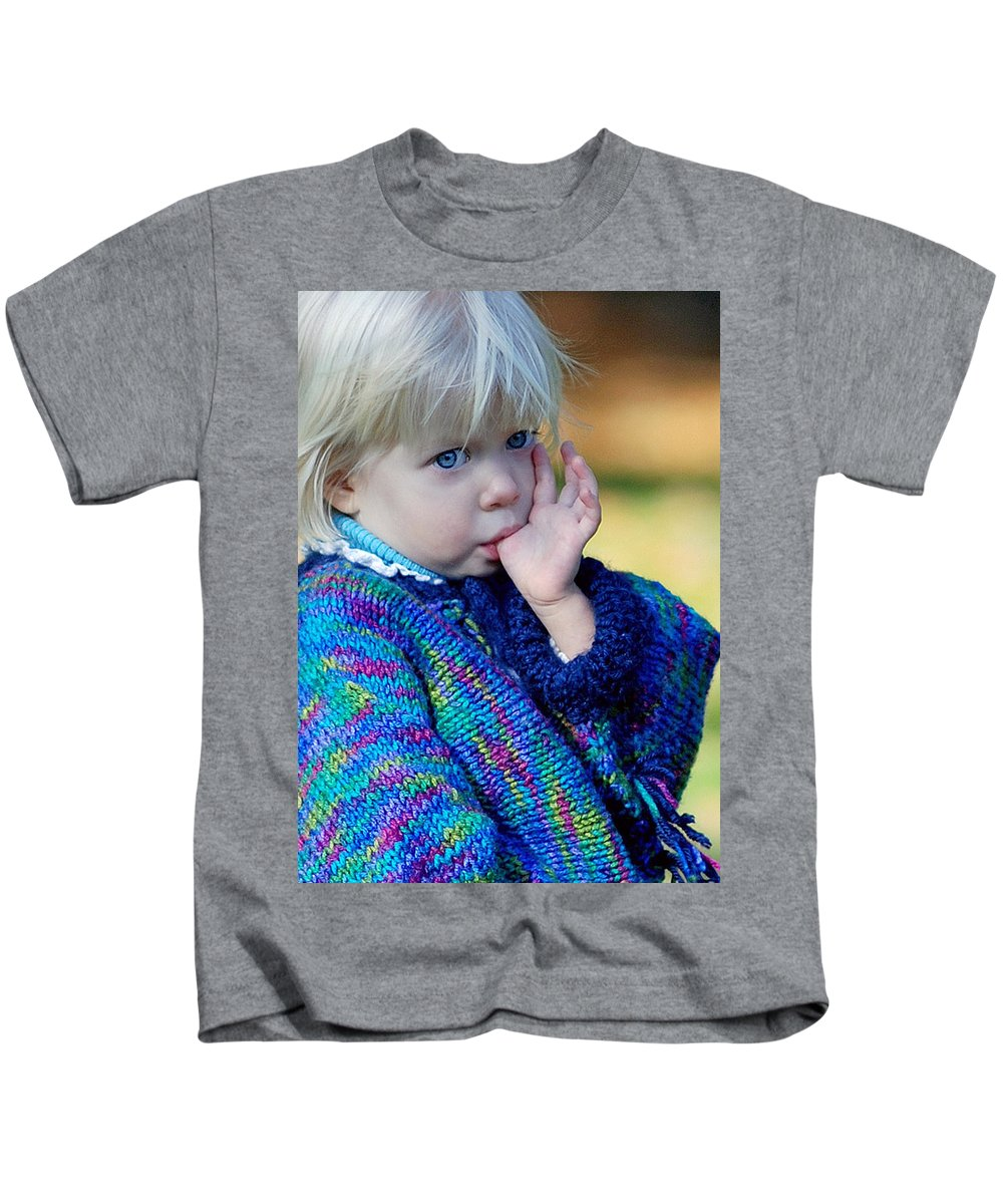 People Kids T-Shirt featuring the photograph Childhood by Lisa Phillips