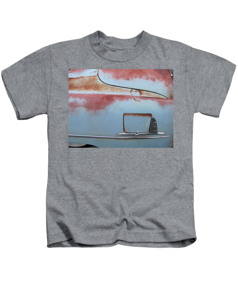 Vintage Kids T-Shirt featuring the photograph Classic Car Rust 6 by Anita Burgermeister