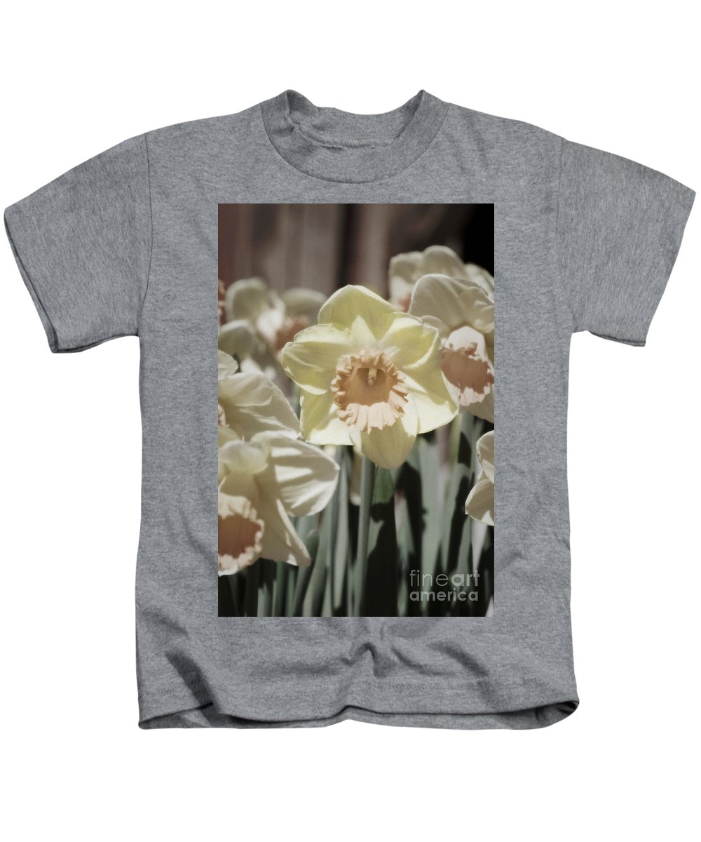 Daffodil Kids T-Shirt featuring the photograph Daffodil Hand-tint by Jim And Emily Bush