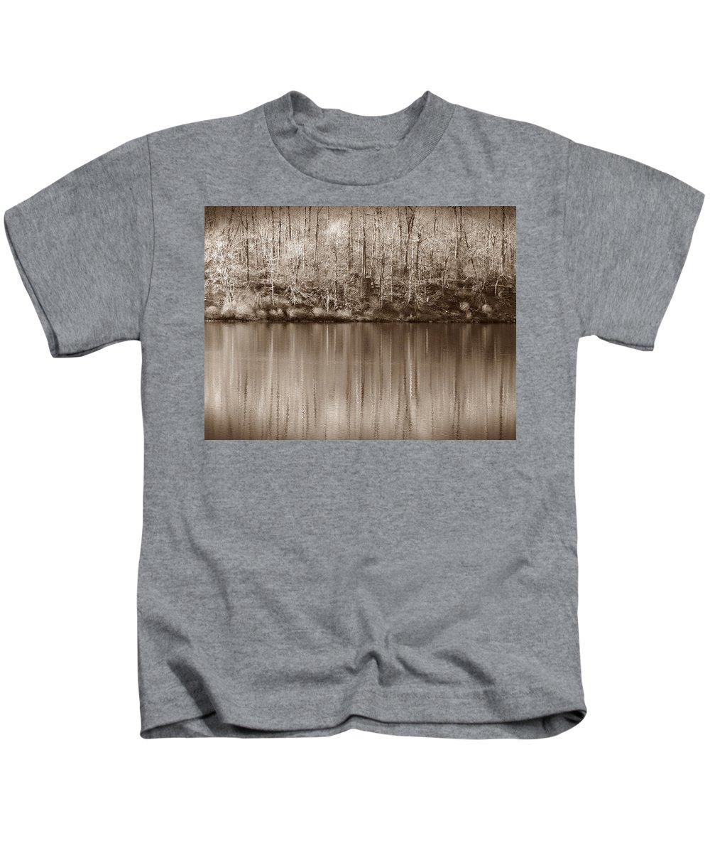 Rickets Glen Kids T-Shirt featuring the photograph Desolate Splendor S by David Dehner