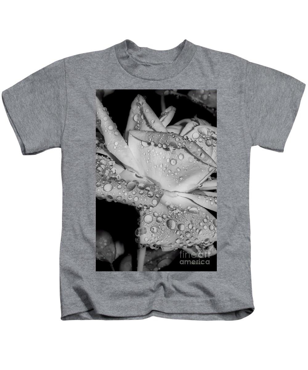 Rose Kids T-Shirt featuring the photograph Dew Drop Rose by Deborah Benoit